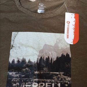 Merrell XL Men's NWT half dome mountain tee shirt